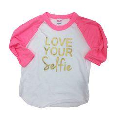 LOVE YOUR Selfie VALENTINES shirt raglan by DandylionsBoutique on Etsy