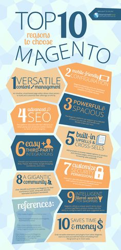 The top 10 advantages to using #Magento ecommerce. #Infographic. via @Mainstreethost blog