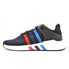 brand new 218ed 0000d Top Quality ADIDAS EQT SUPPORT SHOES BLACKBULEDED BLACK BLUE RED BA7475