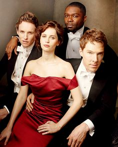 eddie redmayne, felicity jones, david oyelowo, & benedict cumberbatch