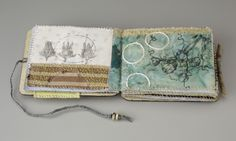 Sharon McCartney, Sometime Sweeter, Mixed Media Coptic Bound Book with printed and embroidered organdy pages
