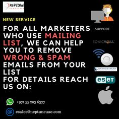 Let us help you filtering your email list.