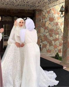 198 of the most exclusive muslim wedding dresses – page 1 Hijabi Wedding, Muslimah Wedding Dress, Disney Wedding Dresses, Muslim Brides, Pakistani Wedding Dresses, Bridal Dresses, Kebaya Wedding, Muslim Couples, Dresses Dresses