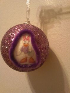 1st glitter ball ornament for Alleah 2014