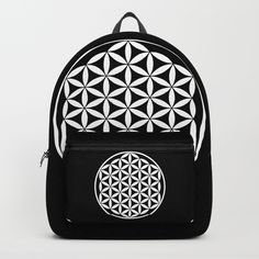 Flower of Life Yin Yang Backpack by azima