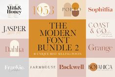 After the huge success of my first font bundle, I am happy to introduce the Modern Font Bundle Vol 2! Ten super unique fonts that are guaranteed to stand out while keeping those modern chic