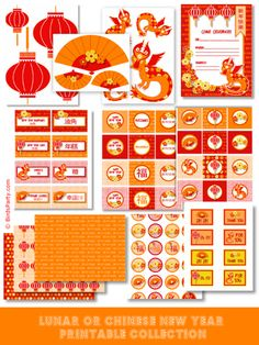 chinese new year dragon party printables