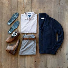 Classic Men's Fashion by Taylrd Clothing, Standard Issue NYC and Custom Insoles by Wiivv! #mensfashion #menswear #classy #cardigan