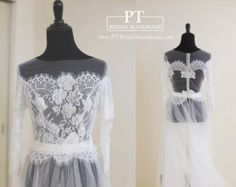 Bridal reception top bridal cover up wedding by louloudimeli