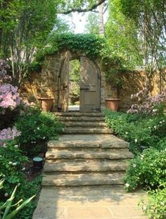 New design in an old neighbor from P. Allen Smith & Associates..entrance to my SECRET garden area, where the gnomes and fairies play....