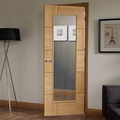Door and Frame Kit - Ravenna Oak Door - Clear Glass - Prefinished Safe Glass, Clear Glass, Ravenna, Contemporary Doors, The Doors, Architrave, Door Sets, Room Doors, Door Design