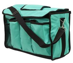 TEAL LARGE SHOWMAN NYLON CORDURA GROOMING CARRIER DURABLE SHOULDER STRAPS in Sporting Goods, Outdoor Sports, Equestrian | eBay