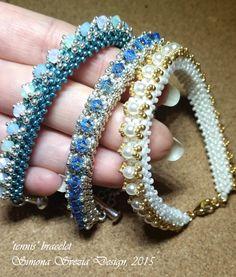 Tutorial tennis bracelet/cuff by PerlineeBijoux on Etsy