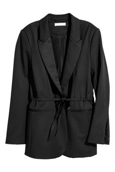 Tuxedo jacket with drawstring - Black - Ladies | H&M GB