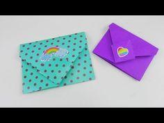 Origami Briefumschlag falten DIY / Bunte Briefchen falten ganz einfach Tutorial | deutsch - YouTube