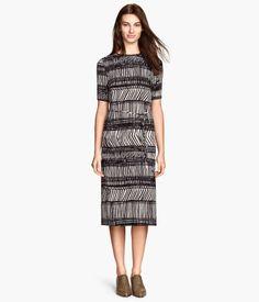 Throw on dress up/dress down pattern dress. Needs belt.  Product Detail | H&M US