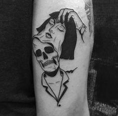 Beautiful Minimalist Yet Powerful Tattoo Ideas Mini Tattoos, Black Tattoos, Body Art Tattoos, Small Tattoos, Sleeve Tattoos, Tattoos For Women, Tattoos For Guys, Dark Tattoo, Goth Tattoo