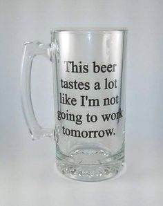 Looking for a great novelty or retirement gift? This is it! Personalize the back with name and year or other information for an additional $2 *** MATERIALS *** These 28 ounce heavy duty beer mugs are solid and weigh approximately 2.5 lbs created with high quality commercial grade vinyl. *** Gifts For Beer Lovers, Beer Gifts, Gag Gifts, Gift For Lover, Funny Gifts, Retirement Gifts For Men, Military Retirement, Retirement Parties, Retirement Ideas