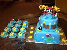 My heART is Cake - Mario Bros cake