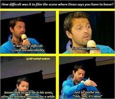 Jensen had to coddle Misha