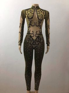 Eligent Black & Gold Full Body Rhinestone Leotard Other Outfits, Stage Outfits, Dance Outfits, Dance Dresses, Jazz Dance Costumes, Belly Dance Costumes, Showgirl Costume, Dance Photo Shoot, Salsa Dress