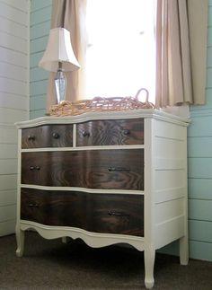 WhisperWood Cottage: 2 tone dresser