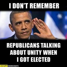 A collection of humorous political memes and parodies featuring President Barack Obama.: Calls for Unity
