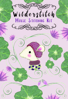 The packaging that I illustrated for my latest mouse kits Mollie Makes, Antique Lace, Stitch Kit, Winter Landscape, Hedges, Watercolor Illustration, Diy For Kids, Hand Knitting, Awards