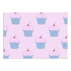 KESS InHouse NL Designs 'Pink Cupcakes' Blue Blush Dog Place Mat, 13' x 18' -- Hurry! Check out this great product : Dog food container