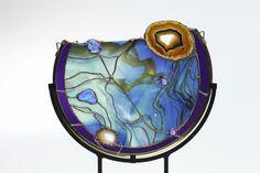 Art Glass Circle, Combination Stand/Sculpture/Hanging - Delphi Artist Gallery