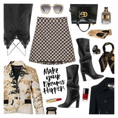 """""""Make Your Dreams Happen"""" by sproetje ❤ liked on Polyvore featuring McQ by Alexander McQueen, Gianvito Rossi, Cami NYC, Max&Co., Gucci, Valentino, Chanel, ootd, WhatToWear and WearIt"""