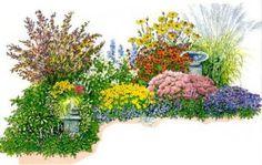 Ассортимент растений для клумбы непрерывного цветения