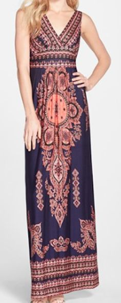 Comfortable printed maxi dress