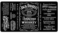 Jack Daniels  Custom Fonts cakepins.com