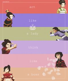 One of the reasons I love Avatar is because of the strong women characters. Avatar The Last Airbender Funny, Avatar Airbender, Strong Female Characters, Women Characters, Mai And Zuko, Avatar World, Avatar Series, Korra Avatar, Fire Nation
