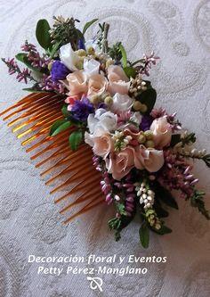 Peineta flor-Estilo Romantico