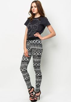 Go crazy with the bottoms~ Aztec Leggings from Alcott @ $19.90