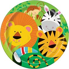 Animal Safari Dinner Plates 8ct -- You can find more details by visiting the image link. (This is an affiliate link)