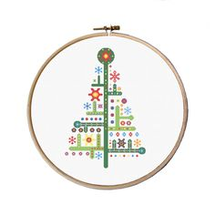 Christmas Ornaments, modern Christmas cross stitch, Christmas tree, Cross Stitch Pattern, funny cross stitch, easy cross stitch