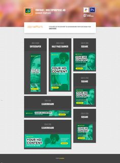 Display Banners, Display Ads, Web Banner, Banner Template, Google Banner, Feeds Instagram, Google Ads, Ad Design, Berries