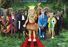 Cheri Cherin, Le gouverne et ment de demain Bay Village, Republic Of The Congo, African Art, Illustration, Lion Sculpture, Museum, Statue, Gallery, Artwork