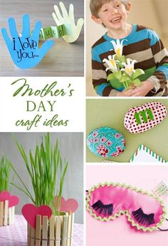 mothers day craft ideas - hand print flower bouquet