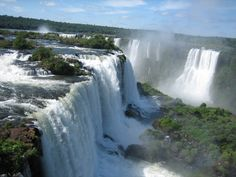 Iguazu Falls are waterfalls of the Iguazu River located on the border of the Brazilian State of Paraná and the Argentine Province of Misiones. Iguazu Falls, World Images, Online Travel, South America Travel, Amazing Nature, Travel Around, Beautiful Landscapes, Places To Go, Beautiful Places
