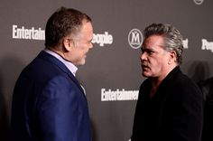 Vincent D'Onofrio Photos - Actors Vincent D'Onofrio (L) and Ray Liotta attend the Entertainment Weekly & People Upfronts party 2016 at Cedar Lake on May 16, 2016 in New York City. - Entertainment Weekly & People Upfronts Party 2016 - Arrivals