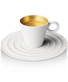 gold ring espresso cup by christian ghion