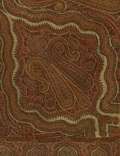 Detail of Kashmir Shawl, c. 1840. Collection of the Bruce Museum