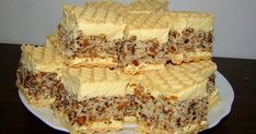 Oricat am incerca sa nu … Romanian Desserts, Romanian Food, Nasa, Waffle Cake, Individual Cakes, Cookies, Biscuits, Sweet Treats, Good Food