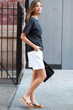 Portia Skirt - White Brocade   Emerson Fry