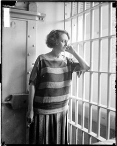 "Prison Garb 1924. Belva Annan murderess whose trial records became the musical ""Chicago."""