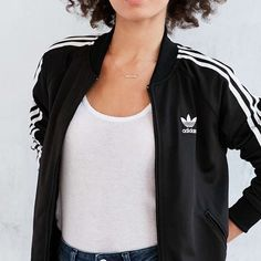 ISO Adidas supergirl track jacket black For a S or M! PLEASE PLEASE. Looking for…